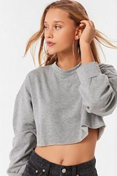 Truly Madly Deeply Back Off Cropped Sweatshirt Grey