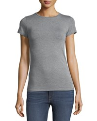 Majestic Soft Touch Short Sleeve Tee Gris Chine