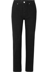 Gold Sign Goldsign The Benefit High Rise Straight Leg Jeans Black