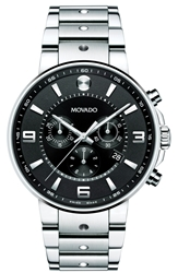 Movado 'S.E. Pilot' Chronograph Bracelet Watch 42Mm Silver Black