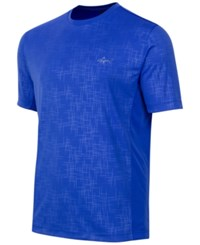 Greg Norman For Tasso Elba Men's Embossed Performance T Shirt Cobalt Glaze