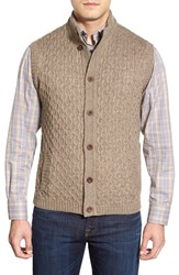 Men's Robert Talbott Mock Neck Button Front Sweater Vest
