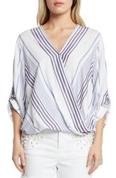 Willow And Clay Stripe Blouse Periwinkle