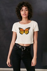 Truly Madly Deeply Butterfly Tee Ivory