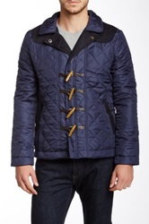 Tr Premium Quilted Toggle Jacket Blue