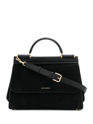 Dolce And Gabbana Sicily Tote Bag Black