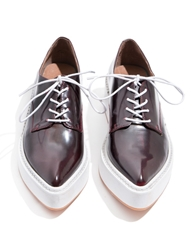 Pixie Market Jeffrey Campbell Garrison Burgundy Pointed Loafers