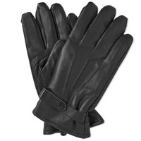 Barbour Burnished Leather Thinsulate Glove Black