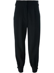Marni Tapered Ankle Cuff Trousers Black