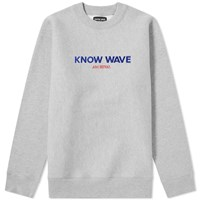 Know Wave Archival Crew Sweat Grey