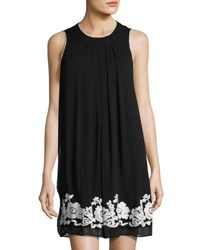 Label By 5Twelve Embroidered Chiffon Sleeveless Dress Black