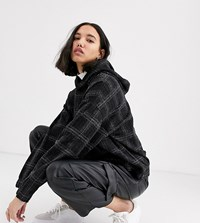 Native Youth Exclusive Oversized Hoodie In Check Co Black