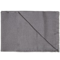 Our Legacy Oversized Scarf Grey Herringbone