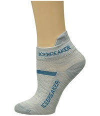 Icebreaker Multisport Ultra Light Micro 1 Pair Pack Blizzard Heather Cruise Women's No Show Socks Shoes Gray