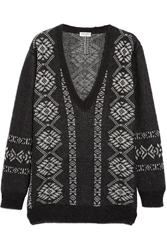 Saint Laurent Fair Isle Wool Blend Sweater