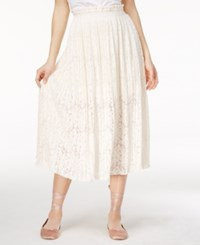 Rachel Roy Pleated Lace Midi Skirt Only At Macy's Natural
