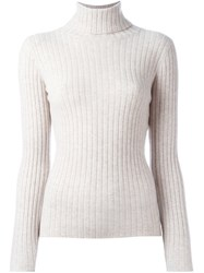Allude Turtleneck Jumper Nude And Neutrals