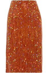 Nina Ricci Sequined Crepe Skirt Multi
