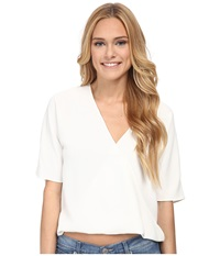 French Connection Aro Crepe Top Summer White Women's Blouse
