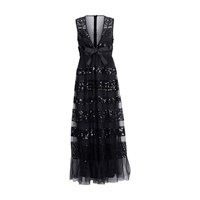 Red Valentino Dress With Sequins Nero
