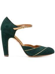 Chie Mihara Pannelled Pumps Green