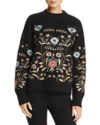Lucy Paris Embroidered Sweater 100 Exclusive Black