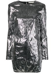 Amen Sequinned Mini Dress Silver