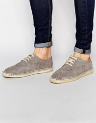 Bronx Lace Up Espadrilles In Grey Grey