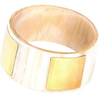 Alexander Betty Smooth Metal And Horn Bangle Light Horn