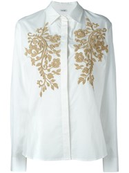 P.A.R.O.S.H. Embroidered Shirt White