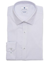 Ryan Seacrest Distinction Ultimate Active Slim Fit Non Iron Performance Stretch Check Blue Graph Check Dress Shirt
