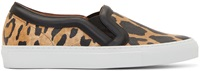 Givenchy Leopard Print Slip On Sneakers