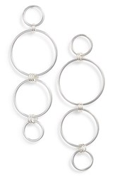 Argentovivo Argento Vivo Open Links Drop Earrings Silver