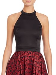 Abs By Allen Schwartz Cropped Halter Top
