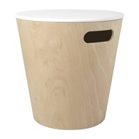 Umbra Woodrow Storage Stool White Natural