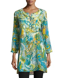 Raj Dali Paisley Long Sleeve Tunic Blue