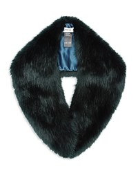 Reiss Betsy Faux Fur Collar Scarf Emerald