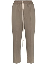 Rick Owens Drawstring Cropped Trousers Grey