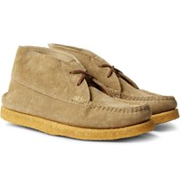 Yuketen Sports Chukka Textured Leather Boots Beige