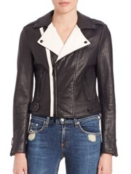 Rebecca Minkoff Wolf Colorblock Leather Moto Jacket