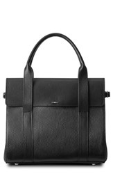Shinola Small Grained Leather Satchel Black