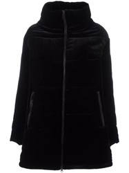 Aspesi High Neck Zipped Coat Black