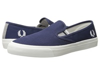 Fred Perry Turner Slip On Canvas Carbon Blue Men's Flat Shoes Navy