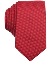 Bar Iii Carnaby Collection Solid Knit Skinny Tie Red