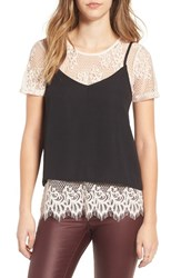 Socialite Women's Sociailte Lace Tee And Camisole