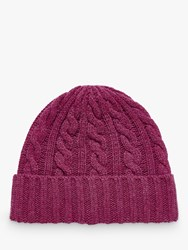 Brora Cashmere Cable Knit Hat Tourmaline