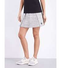 Adidas Originals Herringbone Jersey Mini Skirt C White Black