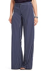 Plus Size Women's Lauren Ralph Lauren Stripe Wide Leg Pants