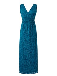 Grace Made In Britain Lace Maxi Dress Teal