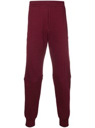 Alexander Mcqueen Zipped Track Pants Red